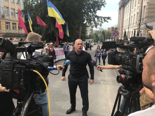 Митинг против Сытника завершился погромом холла здания НАБУ