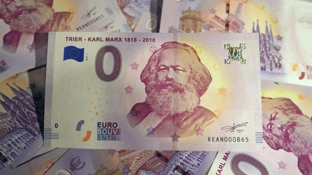 В мире пользуются спросом монеты в 0 евро, выпущенные к 200-летию Карла Маркса
