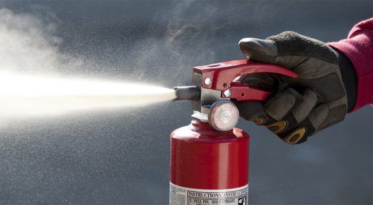 Порошковый огнетушитель для любых возгораний
